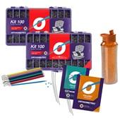 Kit Master Advanced Roth 0.22 - Grátis Arco + Elástico + Brinde 10.10.2903 - Orthometric