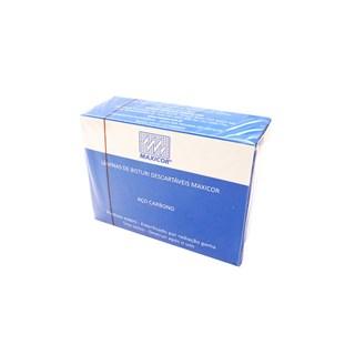 Lamina de Bisturi 15 Aco Carbono c/ 100 Maxicor