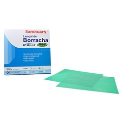 LENCOL DE BORRACHA MEDIO AROMA MENTA 135X135 MM C/26 FOLHAS K DENT