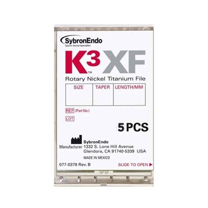 Lima Rotatoria K3xf Conicidade Sortida N25 Tamanho Sortido Com 5 Sybronendo
