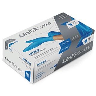 Luva de Procedimento Nitrílica Azul s/ Pó c/ 100 - Unigloves