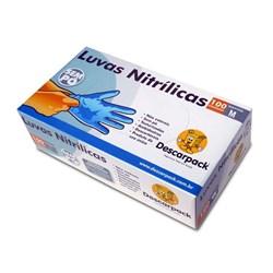 Luva Descarpack Nitrilica c/ 100 Tam Media