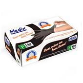 Luva Nitrilica Black s/ Pó c/ 100 - Medix