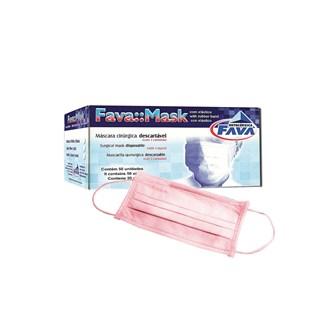 Máscara Elástico Rosa c/50 - Fava