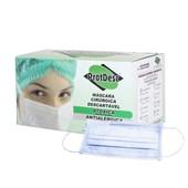 Mascara Protdesc Tripla Azul Elastico Cx c/ 50 Un