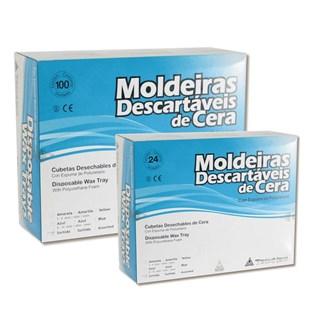 Moldeira Desc de Cera p/ Flúor c/ 100 + Moldeira Desc de Cera p/ Flúor c/ 24 - Technew