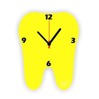 Relogio de Parede Dente Amarelo Agir