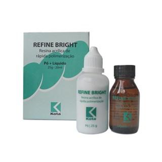 Resina Acrílica Refine Bright Pó 25g + Liq 20mL A3 Kota