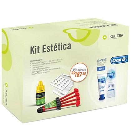 Resina Charisma Classic Kit Estética c/ 4 + Gluma Universal + Porta Resinas - Kulzer