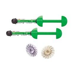 Resina Filtek One Bulk Fill Kit C/2 (A1, A2) 4G + Sof-Lex-Pop-On Espiral - 3M<br /> <br />