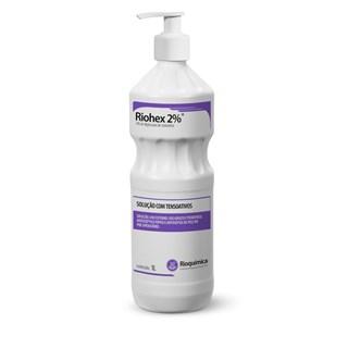 Riohex Antisséptico Tópico 2% 1 Litro c/ Pump - Rioquímica