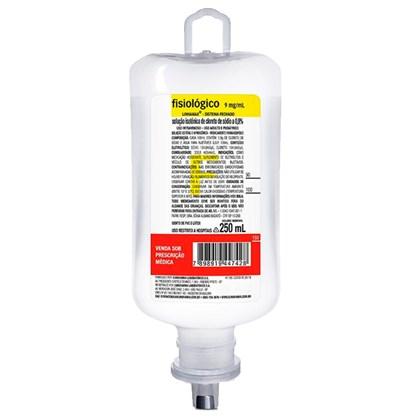 Soro Fisiologico 0,9% 250mL Frasco Sistema Fechado Sanobiol Cristalia