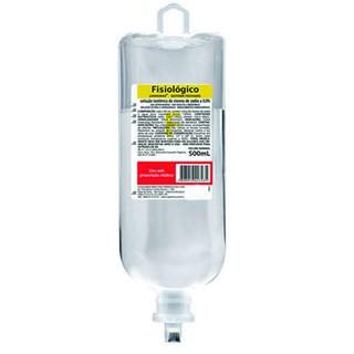 Soro Fisiologico 0,9% 500mL Frasco Sistema Fechado Sanobiol Cristalia