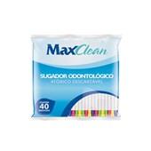Sugador Odontologico Plastico Colorido c/ 40 Maxclean