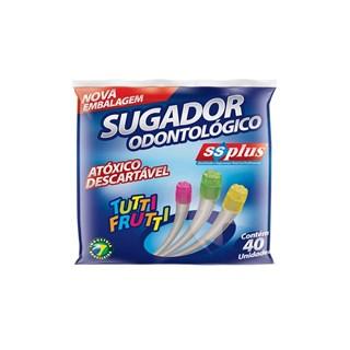 Sugador Odontologico Plastico Colorido c/ 40 Ss Plus