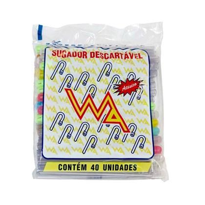 Sugador Plastico c/ 40 Nao Reciclado Wa
