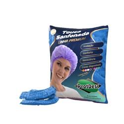 Touca Sanfonada Azul Prot Vest Pct 100 Uni. - Protdesc